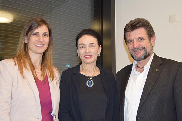 NR Kandidaten Pfister und Kaufmann mit Marianne Binder-Keller
